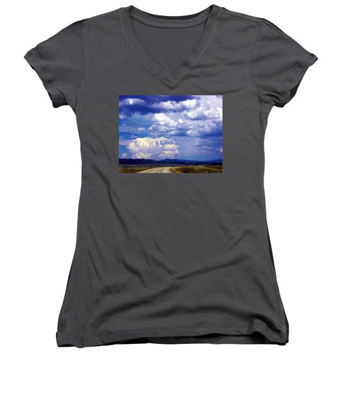 On The Road Again Women's V-Neck T-Shirt