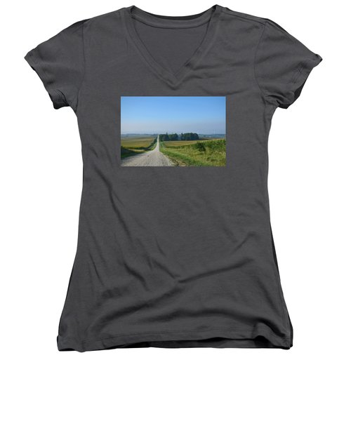 On The Road Again Women's V-Neck (Athletic Fit)