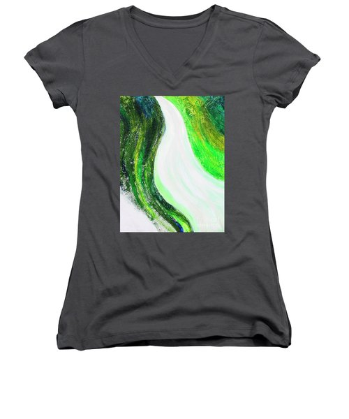 On The Road In Green Women's V-Neck