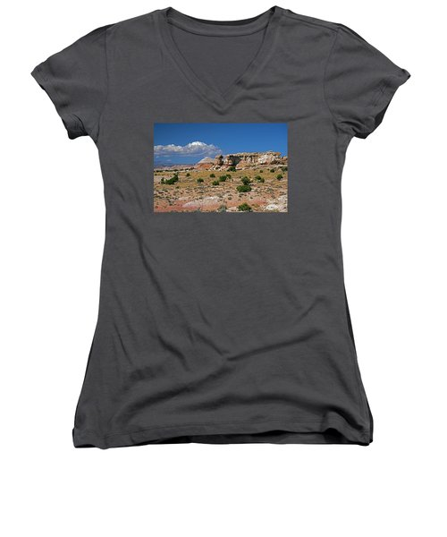 On The Road To Cathedral Valley  Women's V-Neck