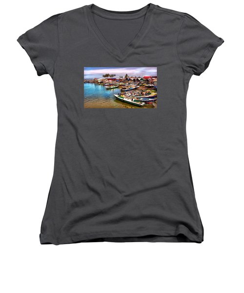 On The Shore Women's V-Neck (Athletic Fit)