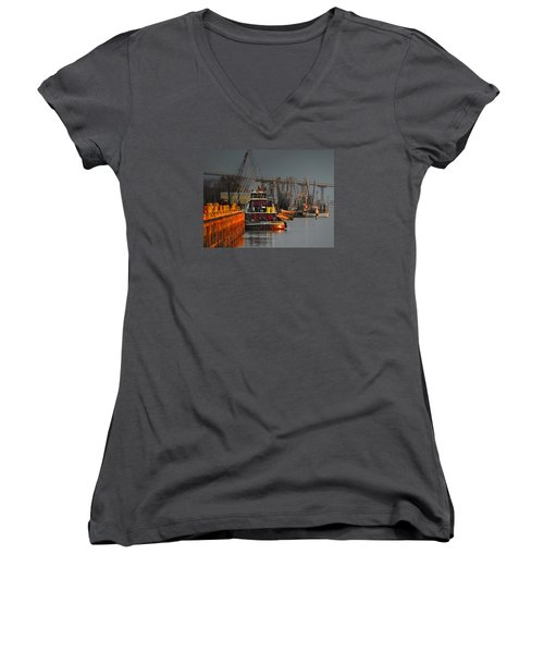 On The Waterfront Women's V-Neck T-Shirt (Junior Cut)