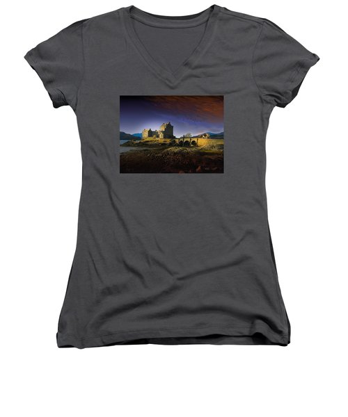 On The Way Home Women's V-Neck T-Shirt (Junior Cut) by J Griff Griffin