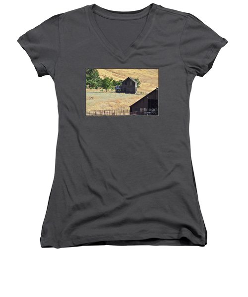 Once Upon A Homestead Women's V-Neck (Athletic Fit)