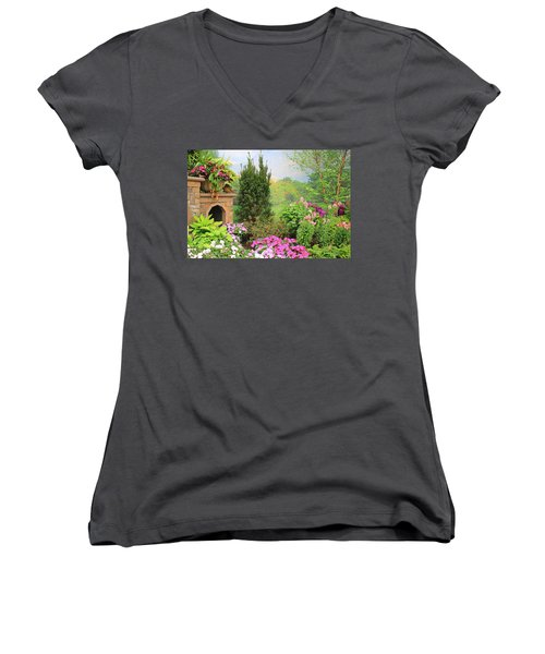 Once Upon A Spring Time Women's V-Neck (Athletic Fit)