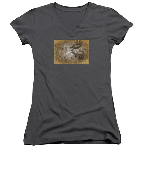 Once Upon A Time Women's V-Neck T-Shirt (Junior Cut) by JRP Photography