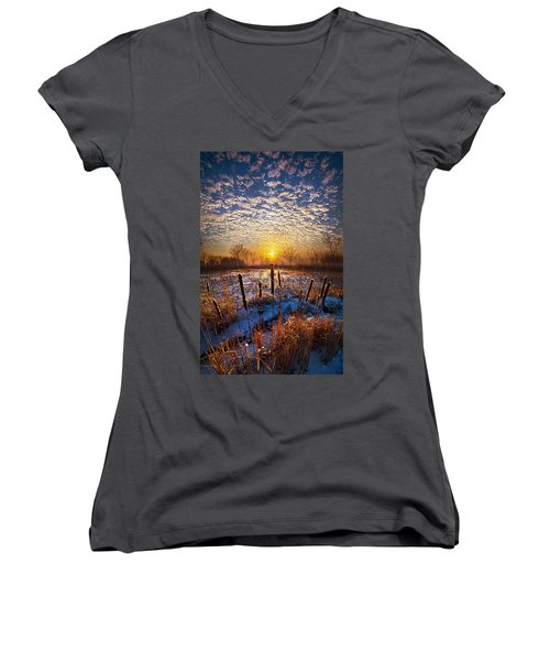 One Day At A Time Women's V-Neck