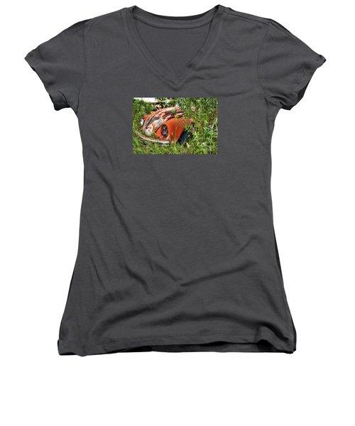 One Eyed Bug Women's V-Neck (Athletic Fit)