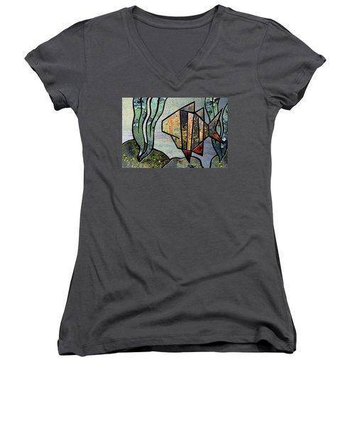 One Fish Women's V-Neck T-Shirt (Junior Cut)
