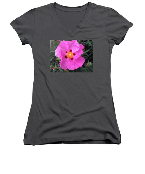 One Perfect Pink Women's V-Neck T-Shirt (Junior Cut)