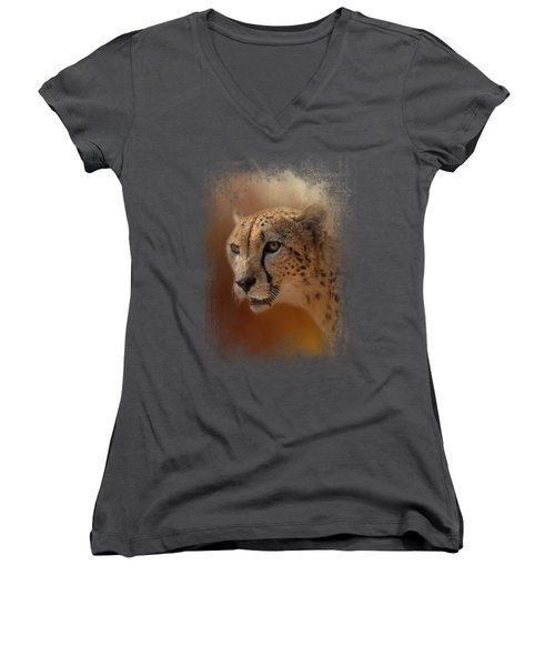 One With The Sun Women's V-Neck T-Shirt (Junior Cut) by Jai Johnson