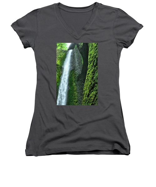 Oneonta Falls  Women's V-Neck (Athletic Fit)