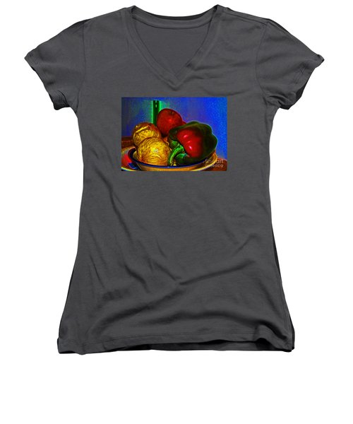 Onions Apples Pepper Women's V-Neck