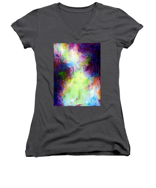 Only Time Will Tell Women's V-Neck T-Shirt (Junior Cut) by Tracy Bonin