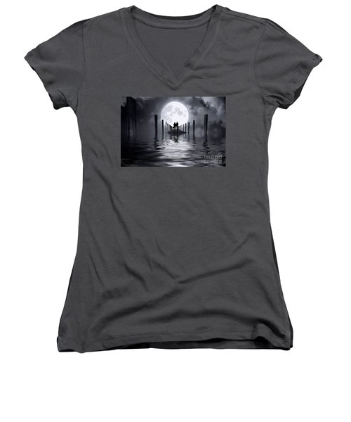 Only Us Women's V-Neck T-Shirt