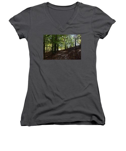 Onto The Unknown Women's V-Neck T-Shirt (Junior Cut)