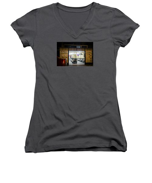Open Restaurant In Lima, Peru Women's V-Neck (Athletic Fit)