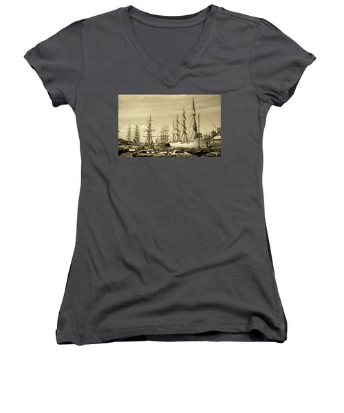 Operation Sail 1992 Brooklyn Women's V-Neck T-Shirt (Junior Cut)