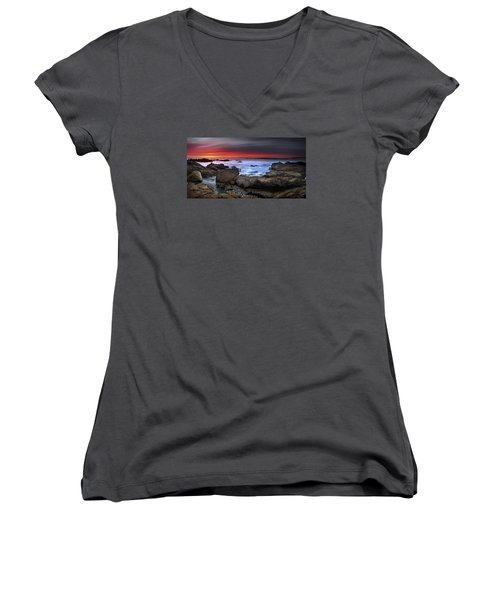 Women's V-Neck T-Shirt (Junior Cut) featuring the photograph Opposites Attract by John Chivers