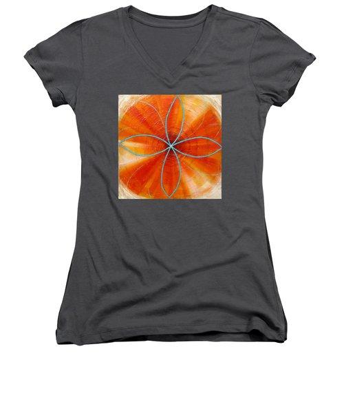 Orange Chakra Women's V-Neck