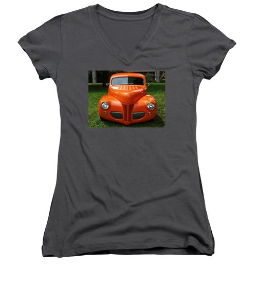 Orange Classic  Women's V-Neck (Athletic Fit)