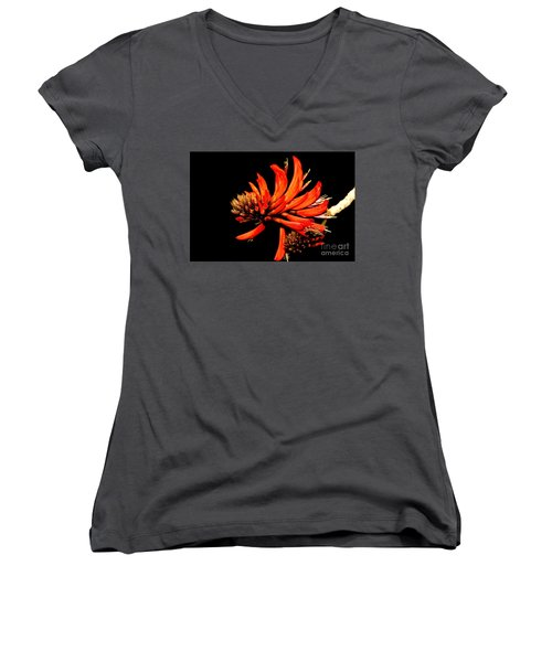 Women's V-Neck T-Shirt featuring the photograph Orange Clover II by Stephen Mitchell