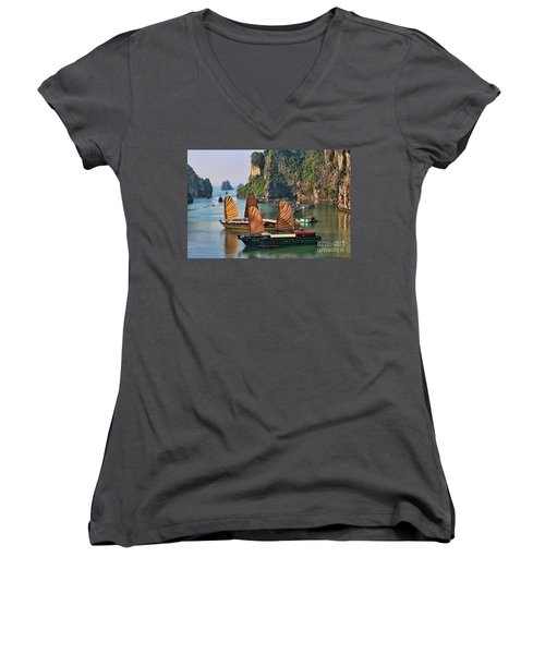 Orange Sails Asian Cruise Vietnam  Women's V-Neck