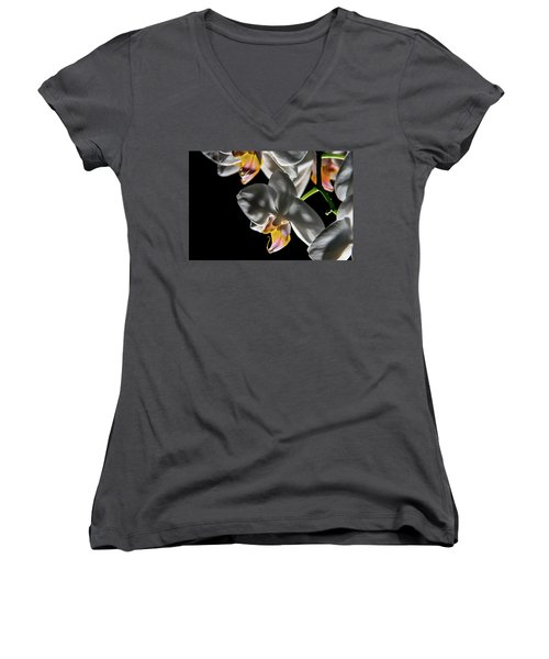 Orchid On Fire Women's V-Neck