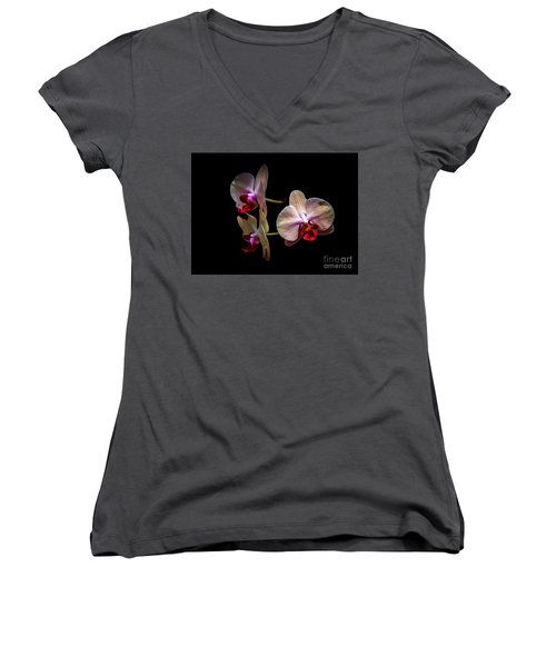 Orchid Trio  Women's V-Neck (Athletic Fit)