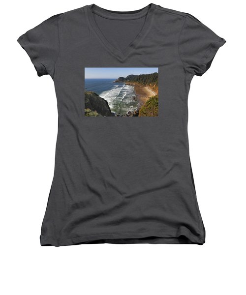 Oregon Coast No 1 Women's V-Neck (Athletic Fit)