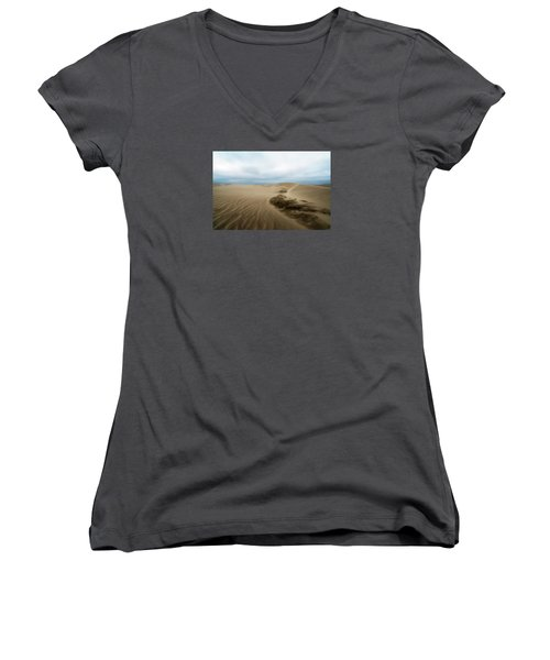 Oregon Dune Wasteland 1 Women's V-Neck T-Shirt (Junior Cut) by Ryan Manuel