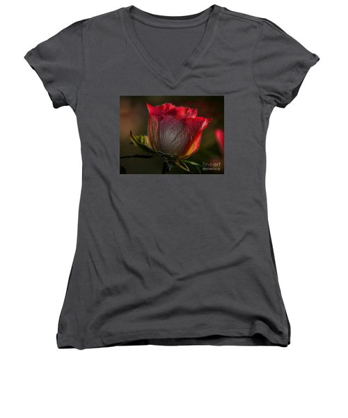 Organic Rose Women's V-Neck
