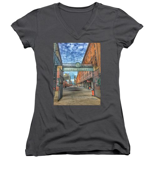 Oriole Park At Camden Yards - Eutaw Street Gate Women's V-Neck