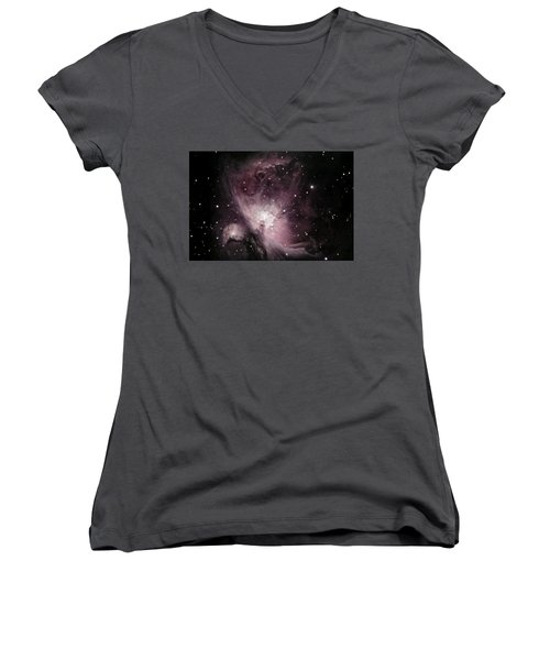 Orion Nebula M42 Women's V-Neck (Athletic Fit)