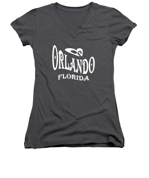 Orlando Florida Design Women's V-Neck