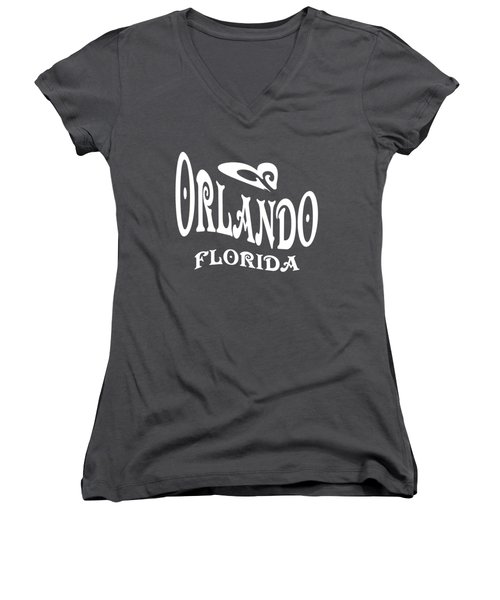 Orlando Florida Design Women's V-Neck (Athletic Fit)