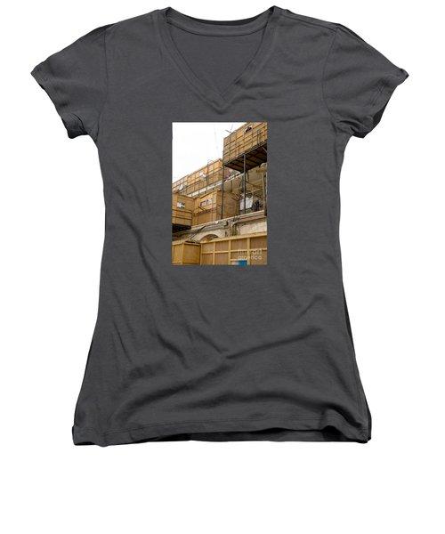 Orthodox Sukkahs In Jerusalem Women's V-Neck T-Shirt
