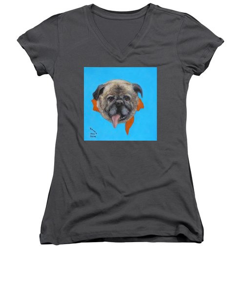 Oscar Women's V-Neck T-Shirt (Junior Cut) by Donelli  DiMaria
