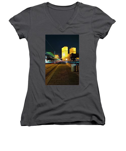 Oslo Town Hall Women's V-Neck (Athletic Fit)