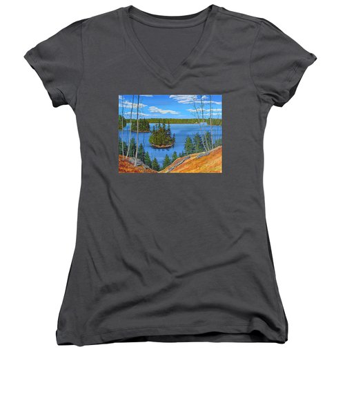 Osprey Island Women's V-Neck T-Shirt