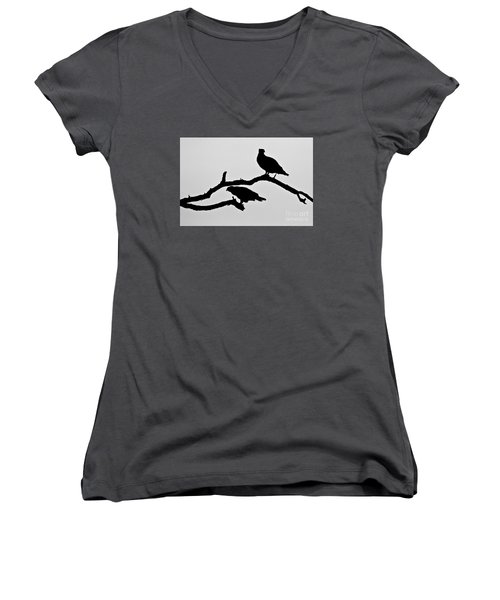 Osprey Silhouettes  Women's V-Neck (Athletic Fit)