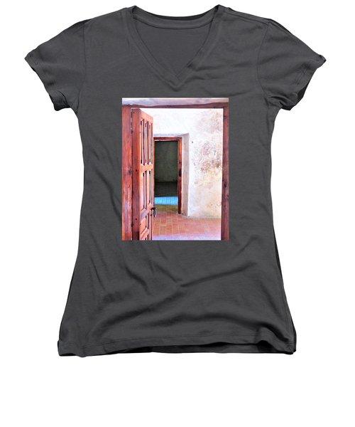 Other Side Women's V-Neck T-Shirt (Junior Cut) by Pablo Munoz