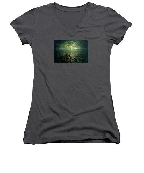 Otherside Women's V-Neck T-Shirt (Junior Cut) by Mark Ross