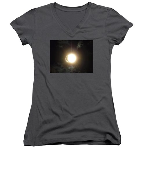 Otherworldly Eclipse-leaving Totality Women's V-Neck