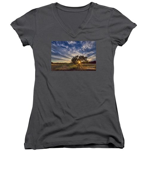 Our Backyard Women's V-Neck (Athletic Fit)