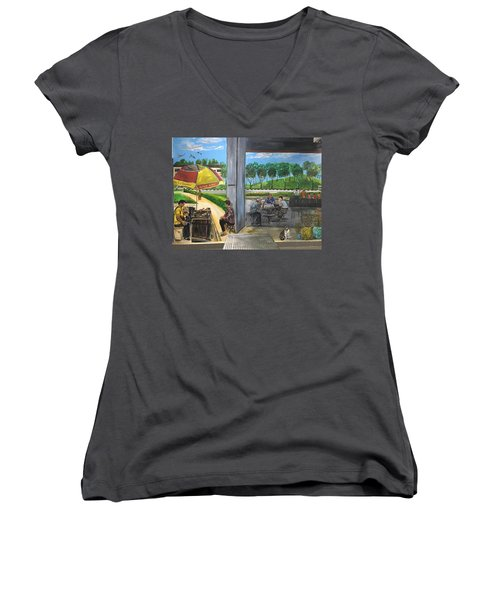 Our Home, Our Community Women's V-Neck T-Shirt