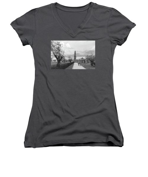 Out For A Walk Women's V-Neck