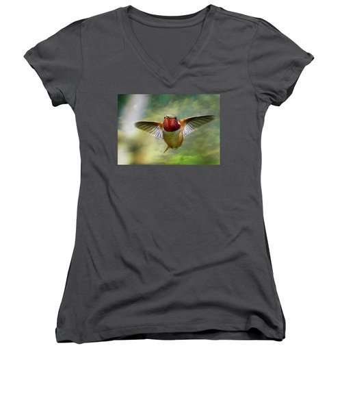 Out From The Clouds Women's V-Neck