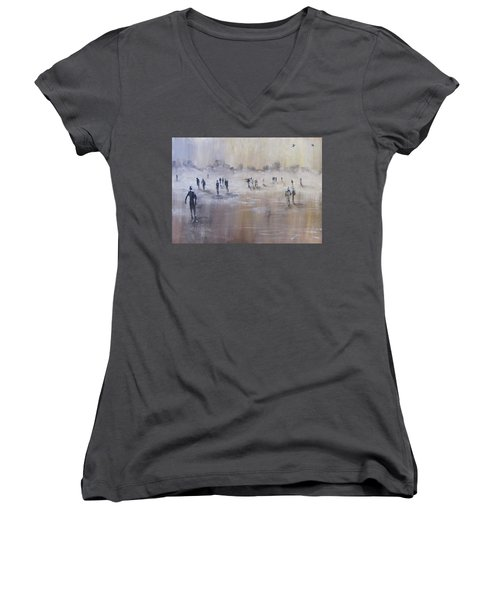 Out Of The Mist Women's V-Neck T-Shirt
