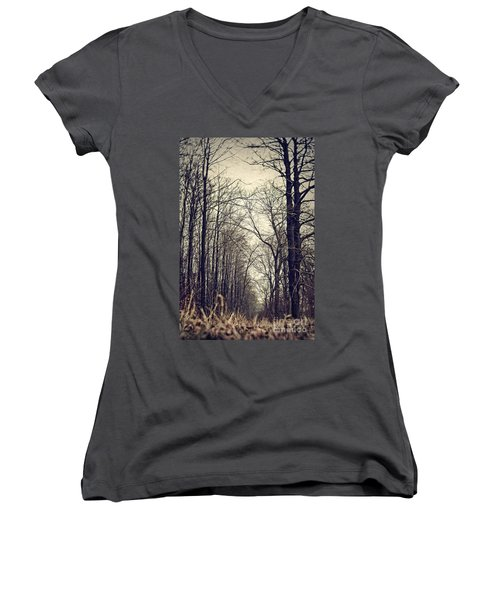 Out Of The Soil - Into The Forest Women's V-Neck (Athletic Fit)